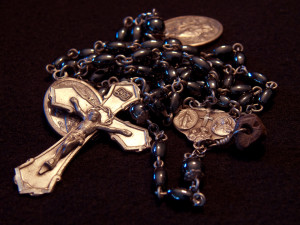 Hematite and Sterling Rosary
